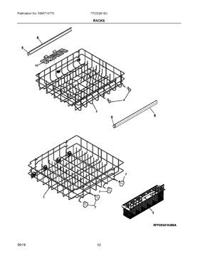 5304506681 Frigidaire Silverware Basket OEM 5304506681