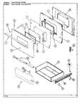 Diagram for 03 - Door/drawer (654xh-ew, 654xh-elw)