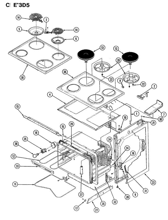 Diagram for CEW3D5DLX