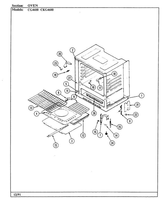 Diagram for CG4622MA539RG
