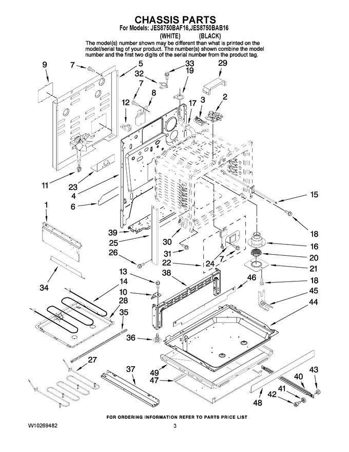 Diagram for JES8750BAB16