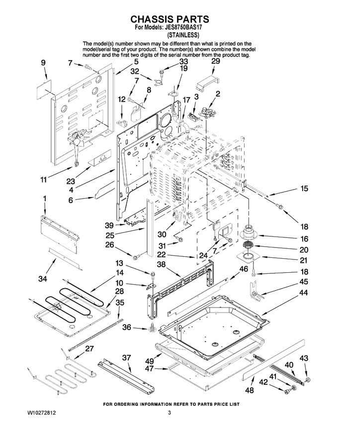 Diagram for JES8750BAS17