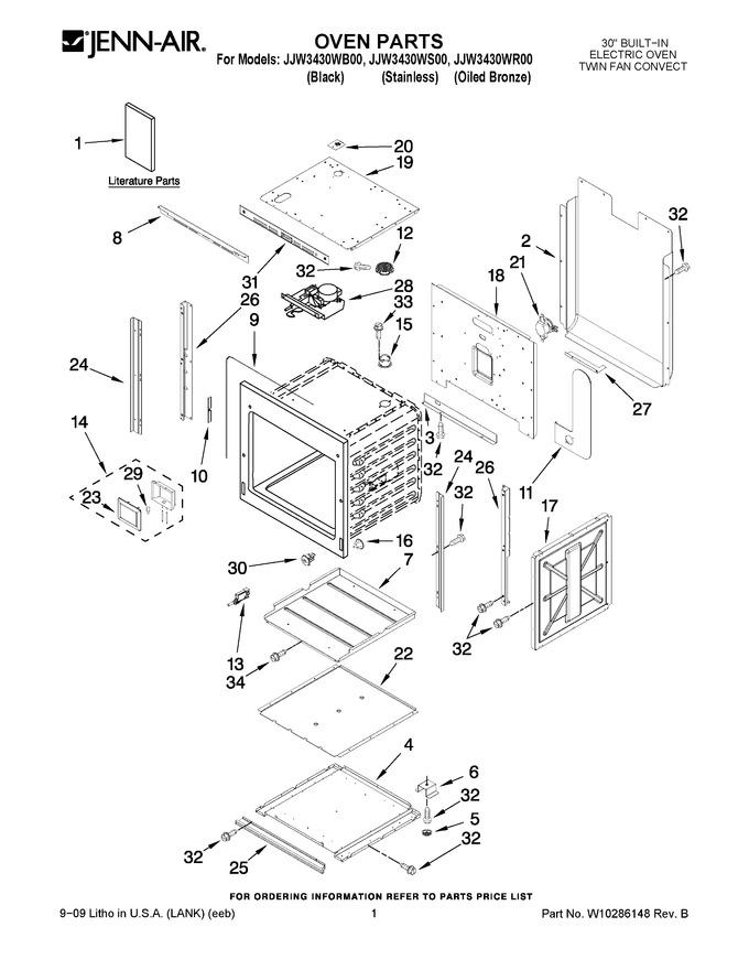 Diagram for JJW3430WB00