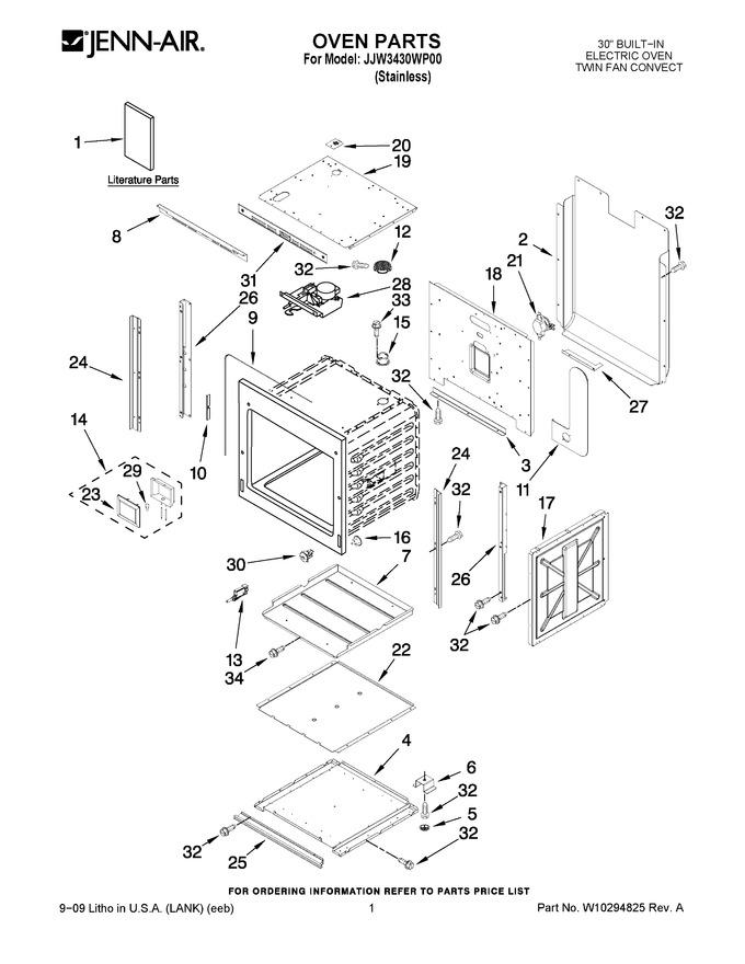 Diagram for JJW3430WP00