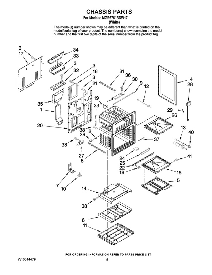 Diagram for MGR6751BDW17