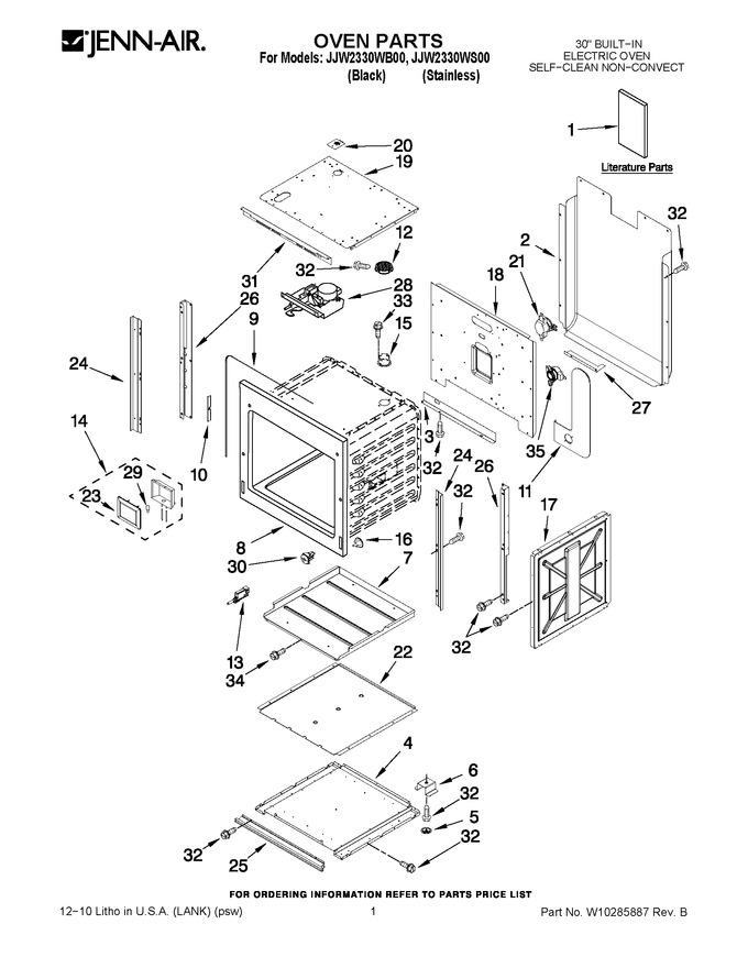 Diagram for JJW2330WB00