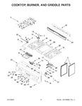 Diagram for 03 - Cooktop, Burner, And Griddle Parts