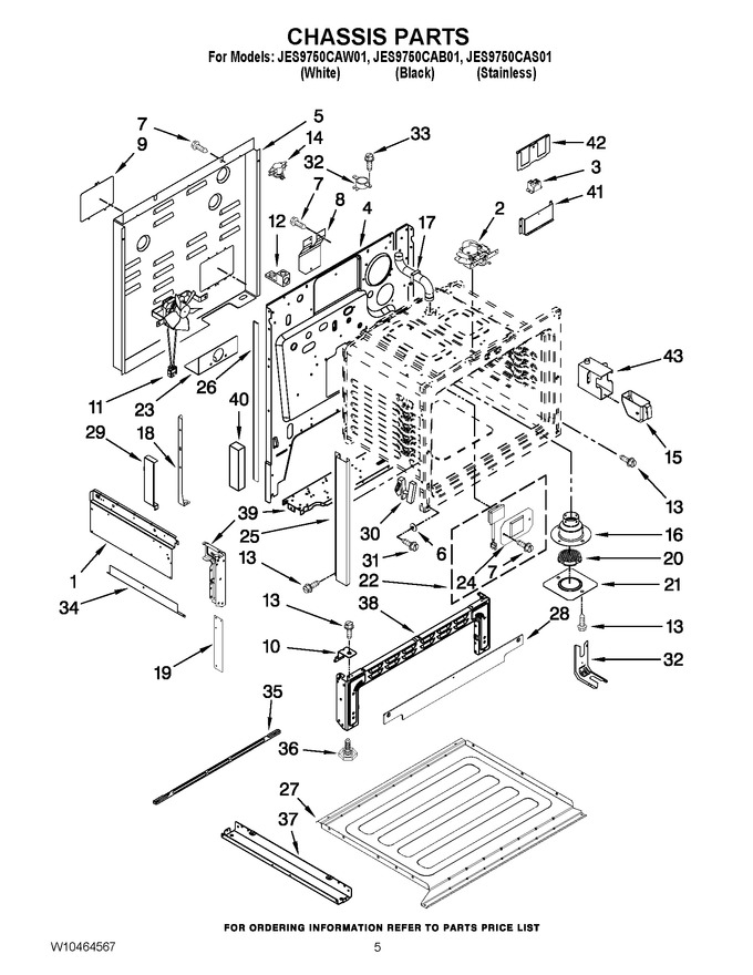 Diagram for JES9750CAS01