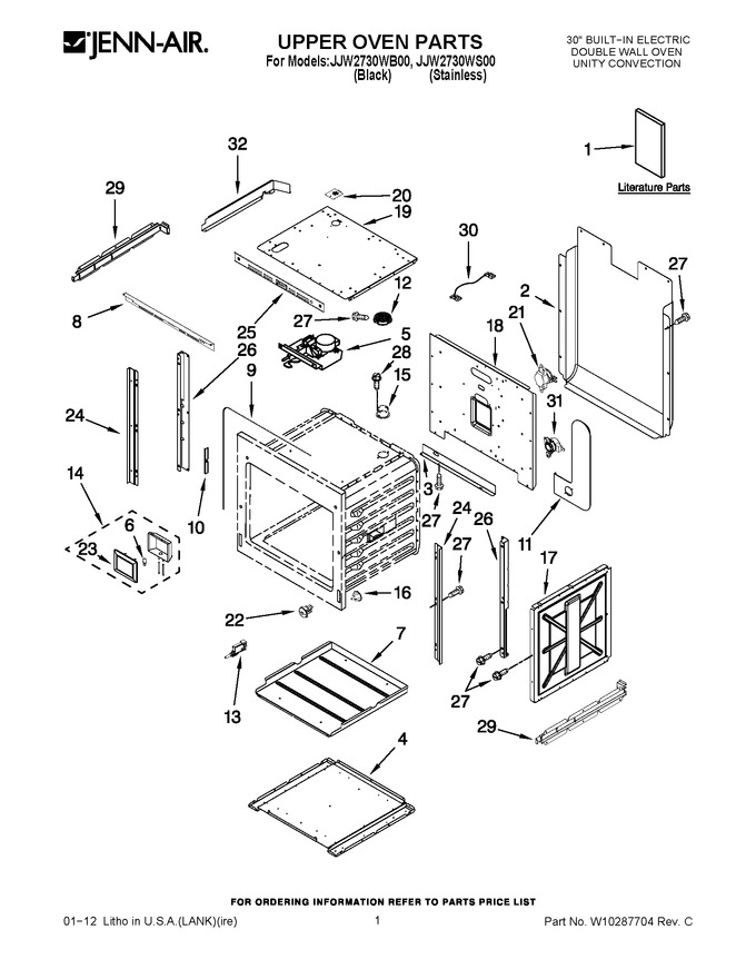 Diagram for JJW2730WS00