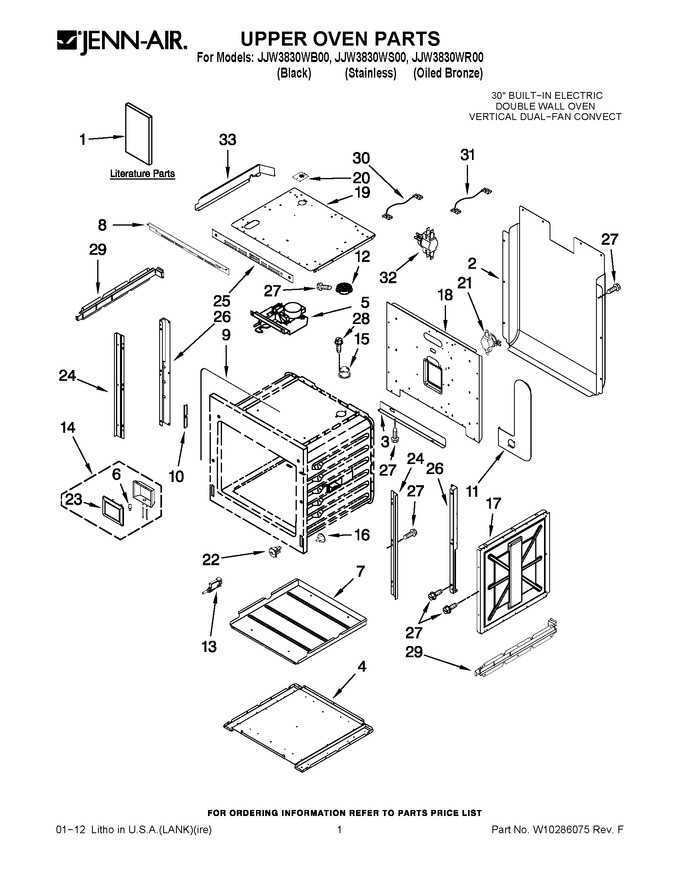 Diagram for JJW3830WB00
