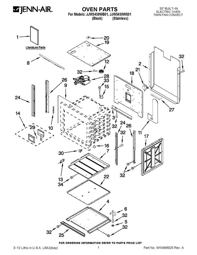 Diagram for JJW3430WB01