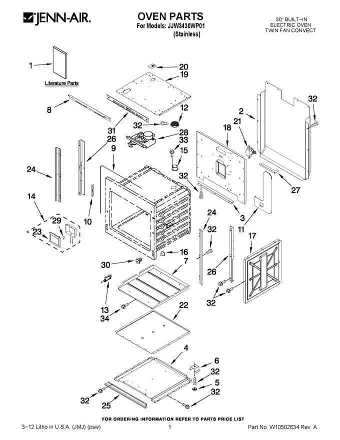 Diagram for JJW3430WP01
