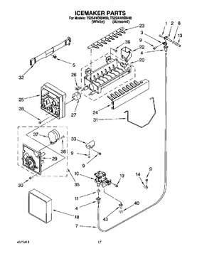 4317943 whirlpool icemaker 8 cube automatic appliance parts rh automaticappliance com Ice Line Whirlpool Ice Maker 4317943