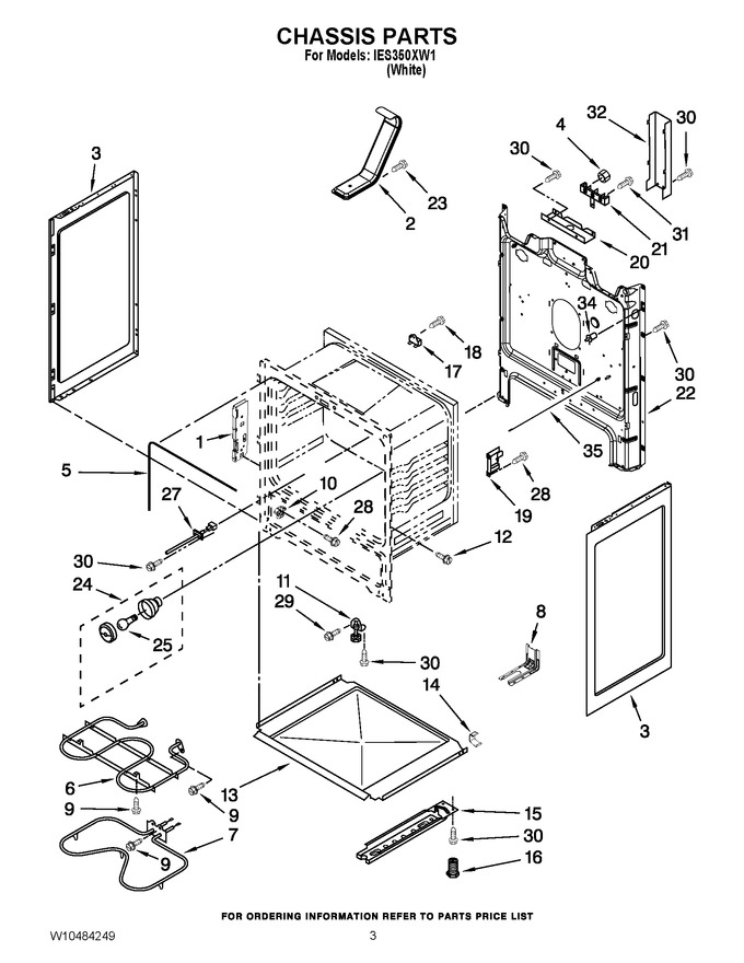 Diagram for IES350XW1