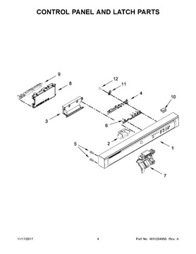 W10629499 Whirlpool Button Automatic Appliance Parts
