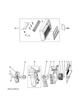 Wj73x10217 Axial Flow Fan Automatic Appliance Parts
